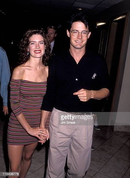 Lara Flynn Boyle and Kyle MacLachlan during ABC Network 1990 Fall TCA Press Tour at Century Plaza Hotel in Los Angeles California United States