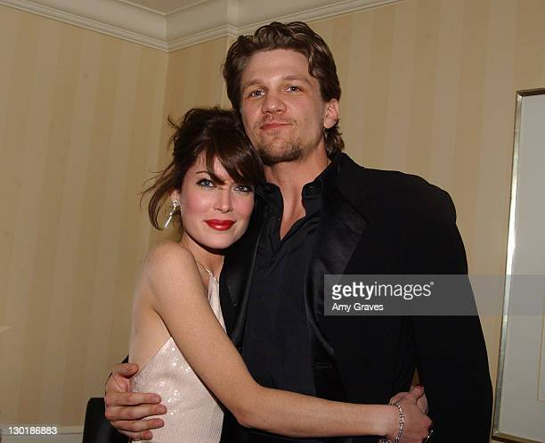 Lara Flynn Boyle and Marc Blucas during Mercedes Benz Oscar Viewing Party at Four Seasons Hotel in Beverly Hills California United States