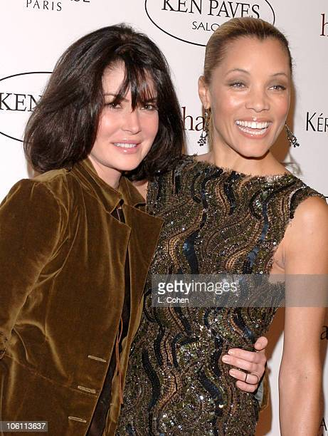 Lara Flynn Boyle and Michael Michelle during Ken Paves Opens His Beverly Hills Salon Hosted By Jessica Simpson and Eva Longoria Arrivals at Ken Paves...