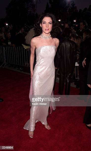 Lara Flynn Boyle arrives at the 7th Annual Blockbuster Entertainment Awards at the Shrine Auditorium in Los Angeles Tuesday April 10 2001 Photo by...