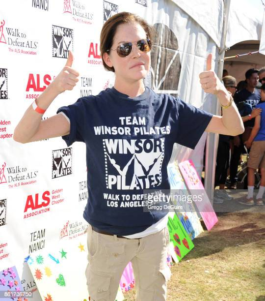 Lara Flynn Boyle attends Nanci Ryder's 'Team Nanci' 15th Annual LA County Walk To Defeat ALS at Exposition Park on October 15 2017 in Los Angeles...