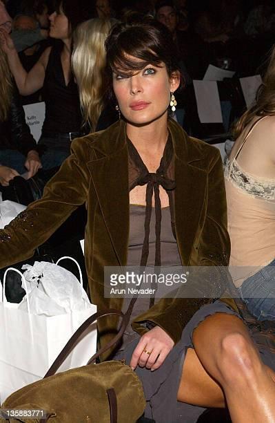 Lara Flynn Boyle during MercedesBenz Fall 2004 Fashion Week at Smashbox Studios Jenni Kayne Front Row and Backstage at Smashbox Studios in Culver...