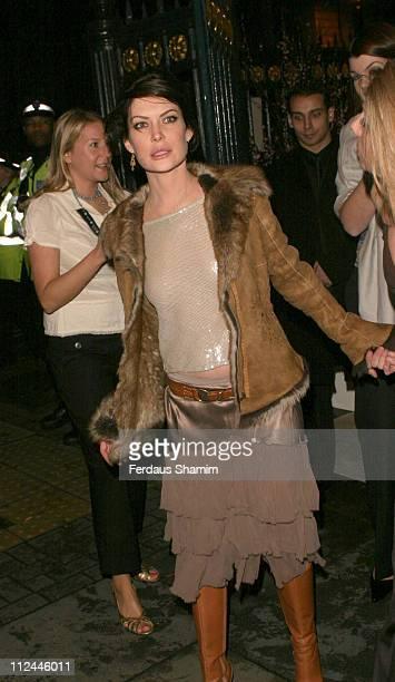 Lara Flynn Boyle during PG Beauty Awards at Banqueting Halls in London Great Britain