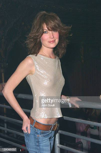 Lara Flynn Boyle during Playstation 2 Offers A Passage Into 'The Underworld' Inside at Belasco Theater in Los Angeles California United States