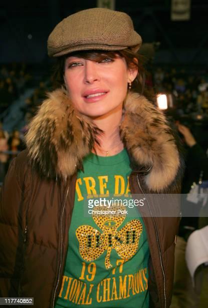 Lara Flynn Boyle during Super Bowl XL Fourth Annual Cadillac Super Bowl Grand Prix at Michigan State Fair Grounds in Detroit Michigan United States