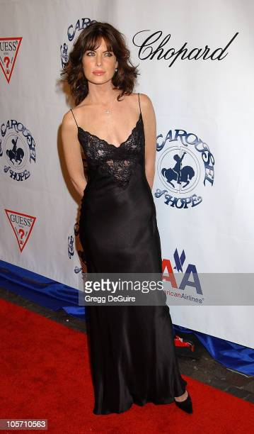 Lara Flynn Boyle during The 15th Carousel Of Hope Ball Arrivals at Beverly Hilton Hotel in Beverly Hills California United States