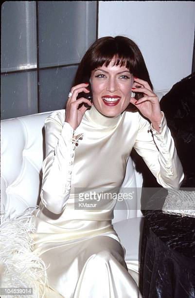 Lara Flynn Boyle during The 56th Annual Golden Globe Awards Red Carpet at Beverly Hilton Hotel in Beverly Hills California United States