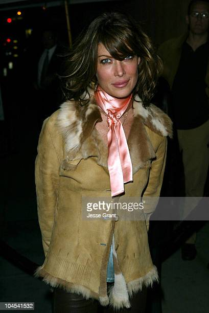 Lara Flynn Boyle during The CAA PreGolden Globes Party at The Buffalo Club in Santa Monica California United States