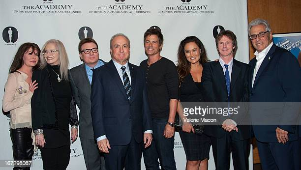 Lara Flynn Boyle Penelope Spheeris Mike Myers Lorne Michaels Rob Lowe and Dana Carvey attends Academy Of Motion Picture Arts And Sciences Hosts A...
