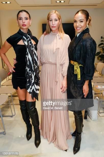 Lara Fraser Laura Pradelska and Alexandra Maurer attend the Kolchagov Barba show during London Fashion Week February 2020 at Melia White House Hotel...