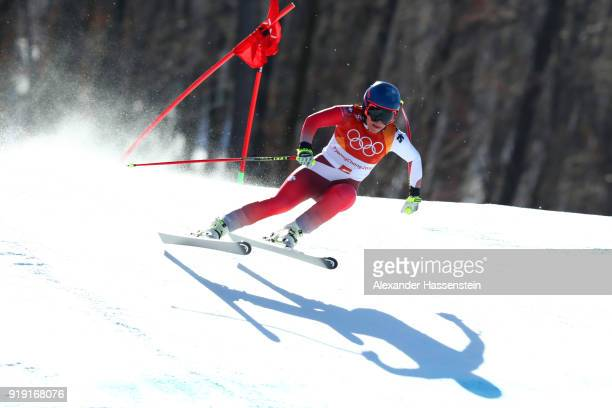 Lara Gut of Switzerland competes during the Alpine Skiing Ladies SuperG on day eight of the PyeongChang 2018 Winter Olympic Games at Jeongseon Alpine...