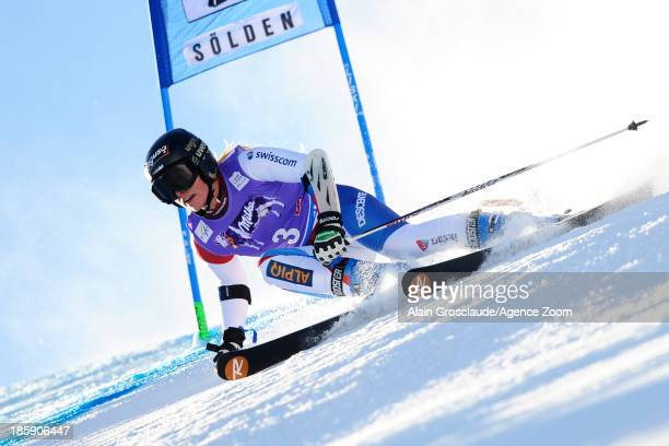 Lara Gut of Switzerland competes during the Audi FIS Alpine Ski World Cup Women's Giant Slalom on October 26 2013 in Soelden Austria