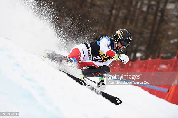 Lara Gut of Switzerland competes during the Audi FIS Alpine Ski World Cup Women's Combined on December 18 2015 in Val d'Isere France