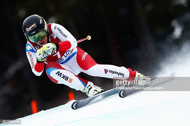 Lara Gut of Switzerland competes during the Audi FIS Alpine Ski World Cup Women's Downhill on December 2 2016 in Lake Louise Canada