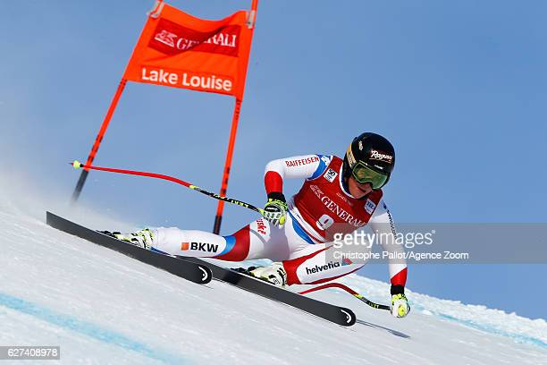 Lara Gut of Switzerland competes during the Audi FIS Alpine Ski World Cup Women's Downhill on December 3 2016 in Lake Louise Canada
