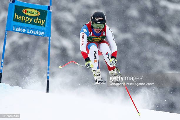 Lara Gut of Switzerland competes during the Audi FIS Alpine Ski World Cup Women's SuperG on December 4 2016 in Lake Louise Canada