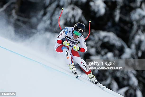Lara Gut of Switzerland competes during the Audi FIS Alpine Ski World Cup Women's Downhill on January 21 2017 in GarmischPartenkirchen Germany