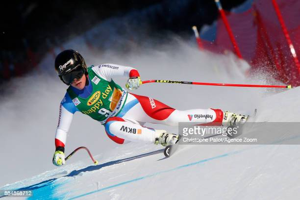 Lara Gut of Switzerland competes during the Audi FIS Alpine Ski World Cup Women's Super G on December 3 2017 in Lake Louise Canada