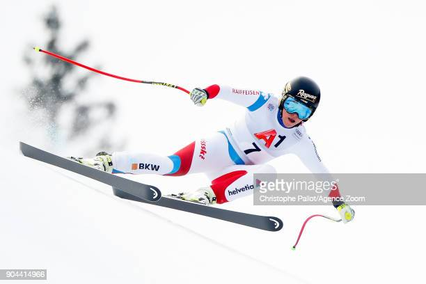 Lara Gut of Switzerland competes during the Audi FIS Alpine Ski World Cup Women's Super G on January 13 2018 in Bad Kleinkirchheim Austria