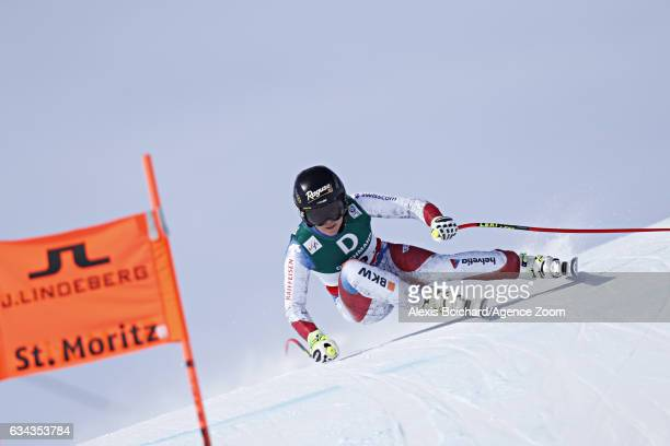 Lara Gut of Switzerland competes during the FIS Alpine Ski World Championships Men's and Women's Downhill Training on February 09 2017 in St Moritz...