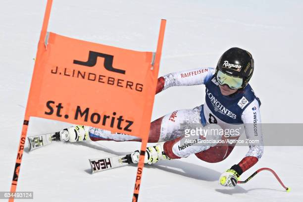 Lara Gut of Switzerland competes during the FIS Alpine Ski World Championships Women's Alpine Combined on February 10 2017 in St Moritz Switzerland