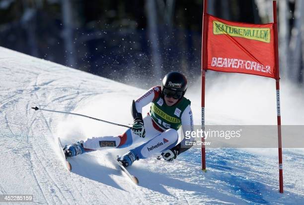 Lara Gut of Switzerland in action during day 2 of training on Raptor for the FIS Beaver Creek Ladies Downhill World Cup on November 27 2013 in Beaver...
