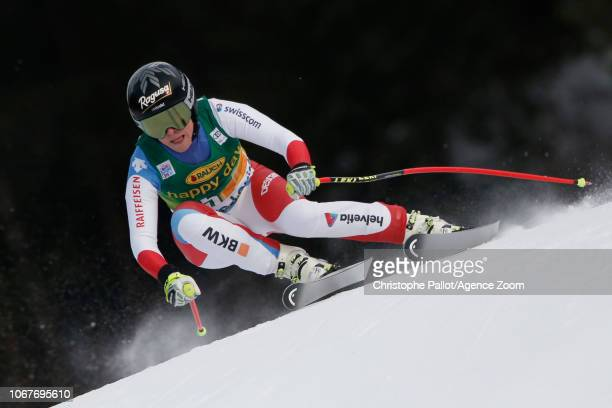 Lara Gut of Switzerland in action during the Audi FIS Alpine Ski World Cup Women's Super G on December 2 2018 in Lake Louise Canada