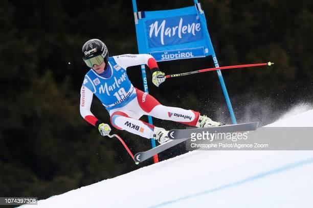 Lara Gut of Switzerland in action during the Audi FIS Alpine Ski World Cup Women's Super G on December 19 2018 in Val Gardena Italy