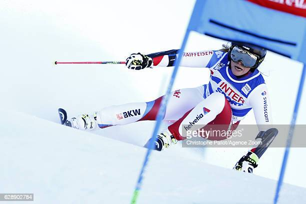 Lara Gut of Switzerland in action during the Audi FIS Alpine Ski World Cup Women's Giant Slalom on December 10 2016 in Sestriere Italy