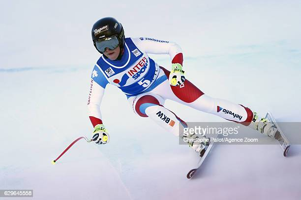 Lara Gut of Switzerland in action during the Audi FIS Alpine Ski World Cup Women's Downhill Training on December 14 2016 in Vald'Isere France