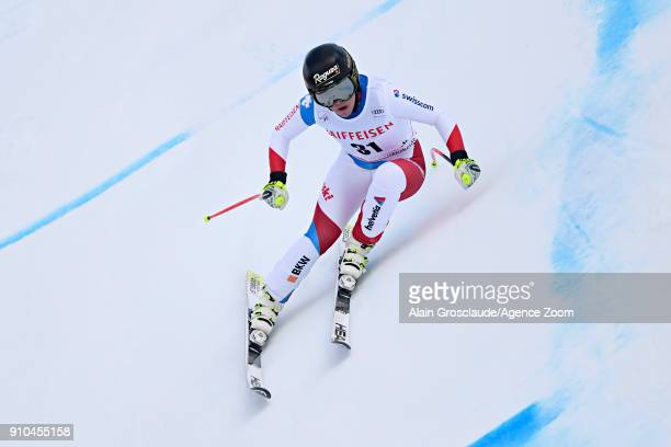 Lara Gut of Switzerland in action during the Audi FIS Alpine Ski World Cup Women's Combined on January 26 2018 in Lenzerheide Switzerland