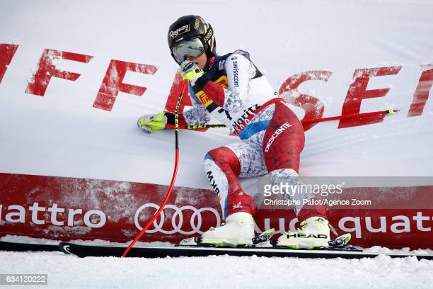 Lara Gut of Switzerland wins the bronze medal during the FIS Alpine Ski World Championships Women's SuperG on February 07 2017 in St Moritz...