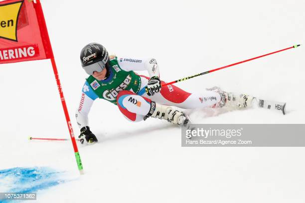 Lara Gutbehrami of Switzerland competes during the Audi FIS Alpine Ski World Cup Women's Giant Slalom on December 28 2018 in Semmering Austria
