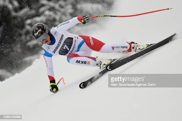 Lara Gut-behrami of Switzerland competes during the Audi FIS Alpine Ski World Cup Women's Super G on January 26, 2019 in Garmisch Partenkirchen,...