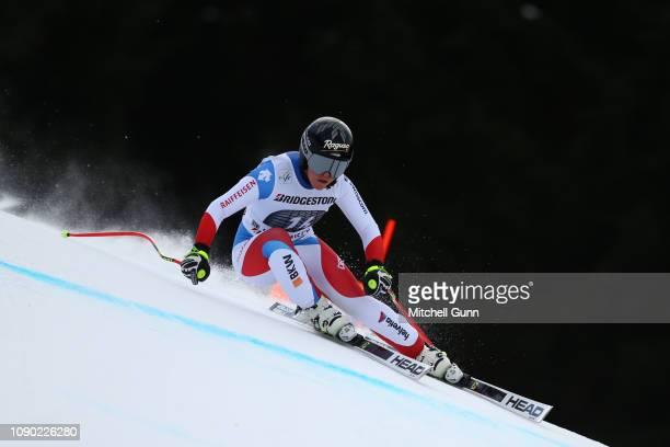 Lara GutBehrami of Switzerland competes during the Audi FIS Alpine Ski World Cup Women's Downhill on January 27 2019 at GarmischPartenkirchen Germany