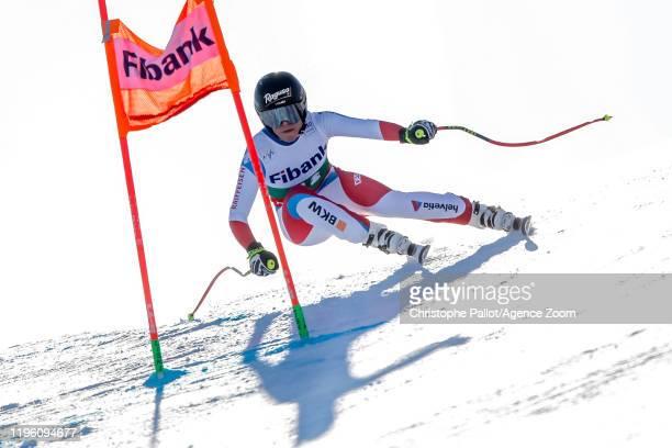 Lara Gutbehrami of Switzerland competes during the Audi FIS Alpine Ski World Cup Women's Downhill on January 25 2020 in Bansko Bulgaria
