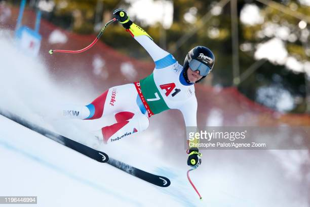 Lara Gut-behrami of Switzerland competes during the Audi FIS Alpine Ski World Cup Women's Super G on January 26, 2020 in Bansko Bulgaria.