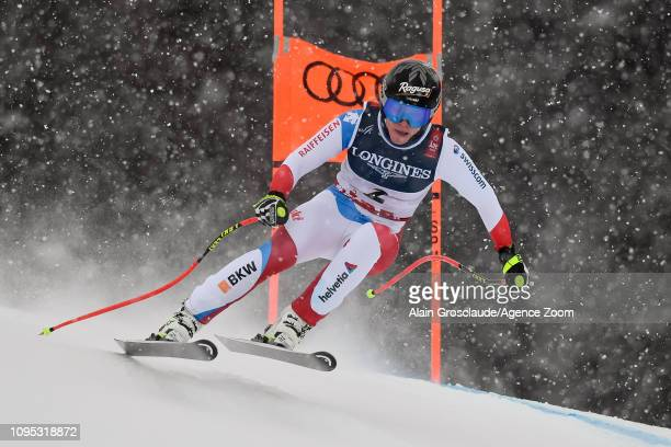 Lara Gutbehrami of Switzerland competes during the FIS World Ski Championships Women's Alpine Combined on February 8 2019 in Are Sweden