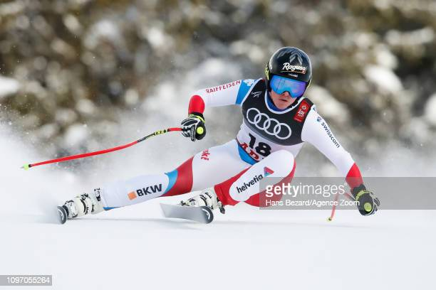 Lara Gutbehrami of Switzerland competes during the FIS World Ski Championships Women's Downhill on February 10 2019 in Are Sweden