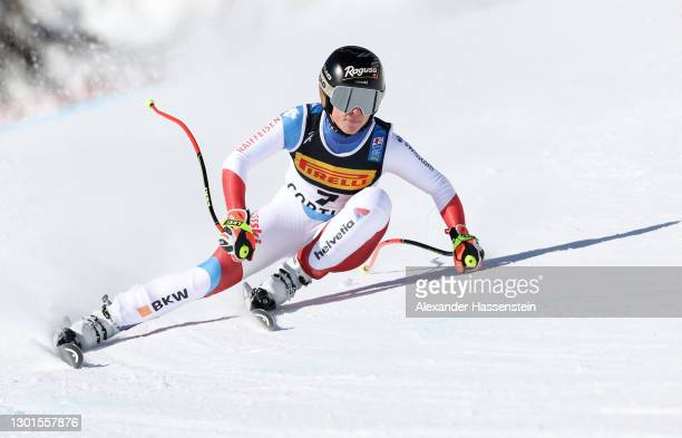 Lara Gut-Behrami of Switzerland competes in the Women's Super-G during the FIS World Ski Championships Women's Super Giant Slalom on February 11,...