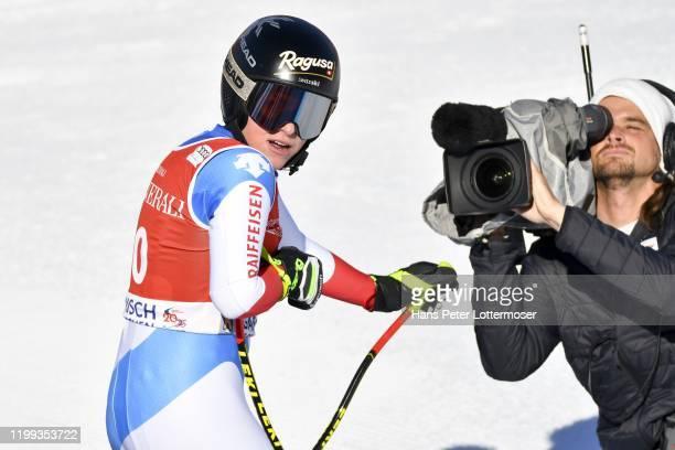 Lara Gut-Behrami of Switzerland during the Audi FIS Alpine Ski World Cup - Women's Downhill on February 8, 2020 in Garmisch Partenkirchen, Germany.