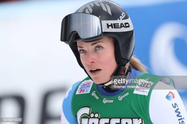 Lara GutBehrami of Switzerland during the first run of AUDI FIS Ski World Cup Ladys Giant Slalom on December 28 2018 in Semmering Austria