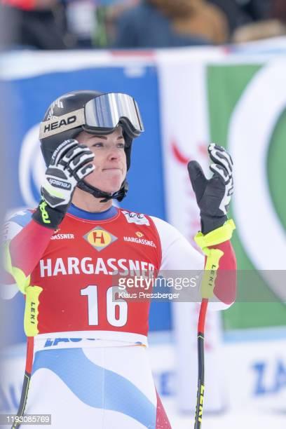 Lara GutBehrami of Switzerland during the FIS Ski World Cup Women's Downhill race on January 11 2020 in Zauchensee Austria