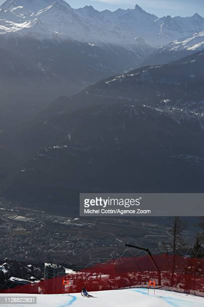 Lara Gut-behrami of Switzerland in action during the Audi FIS Alpine Ski World Cup Women's Downhill Training on February 21, 2019 in Crans Montana...