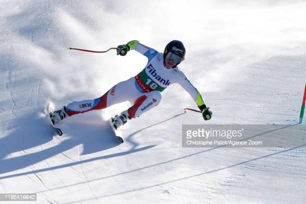 Lara Gutbehrami of Switzerland in action during the Audi FIS Alpine Ski World Cup Women's Downhill Training on January 23 2020 in Bansko Bulgaria