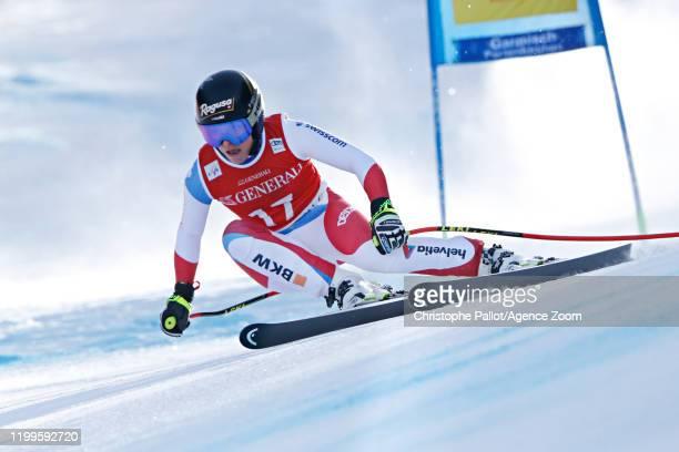 Lara Gutbehrami of Switzerland in action during the Audi FIS Alpine Ski World Cup Women's Super G on February 9 2020 in Garmisch Partenkirchen Germany