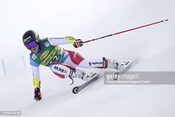 Lara Gut-behrami of Switzerland in action during the Audi FIS Alpine Ski World Cup Women's Giant Slalom on October 17, 2020 in Soelden, Austria.