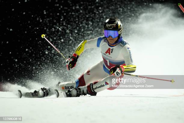 Lara Gut-behrami of Switzerland in action during the Audi FIS Alpine Ski World Cup Women's Parallel Giant Slalom on November 26, 2020 in Lech Austria.