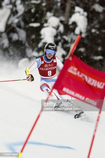 Lara Gut-behrami of Switzerland in action during the Audi FIS Alpine Ski World Cup Women's Giant Slalom in January 16, 2021 in Kranjska Gora,...