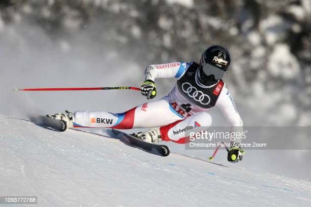Lara Gutbehrami of Switzerland in action during the FIS World Ski Championships Women's Downhill Training on February 4 2019 in Are Sweden